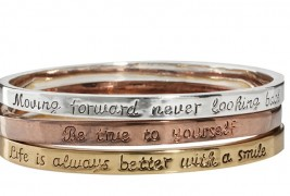 Engraved bangle set
