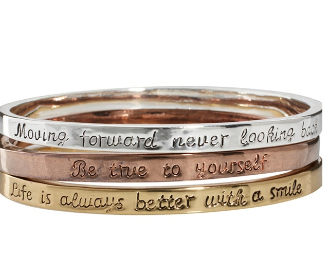 Engraved bangle set | Image courtesy of Asos