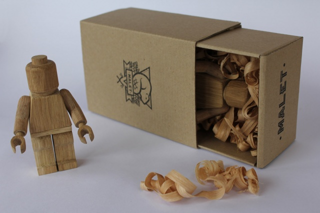 Wooden lego man for sale