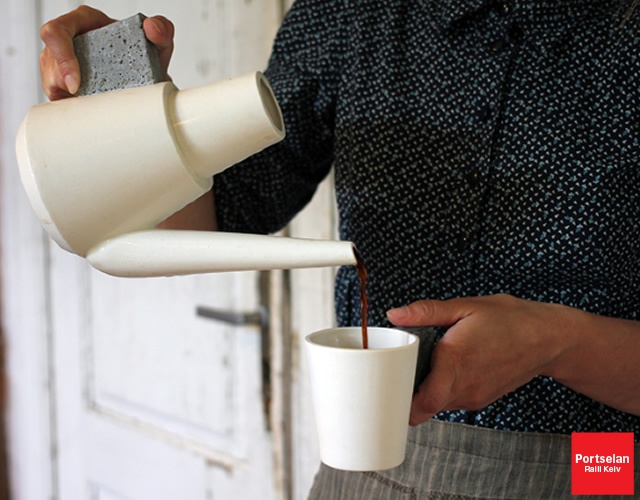 Concrete coffee set