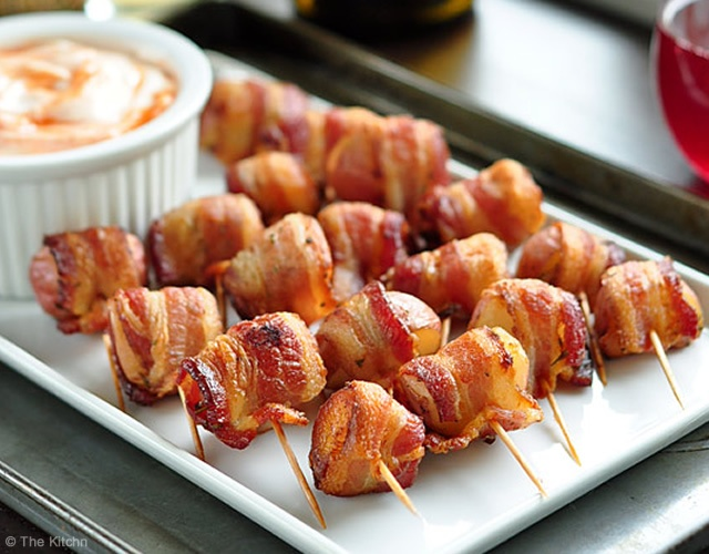 Bacon-wrapped potato bites