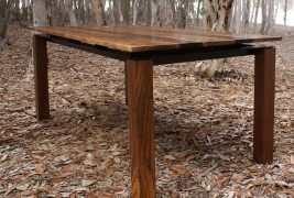 Walnut & Steel table - thumbnail_2