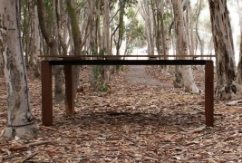 Walnut & Steel table - thumbnail_3