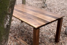 Walnut & Steel table - thumbnail_4