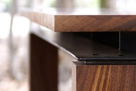 Walnut & Steel table - thumbnail_5