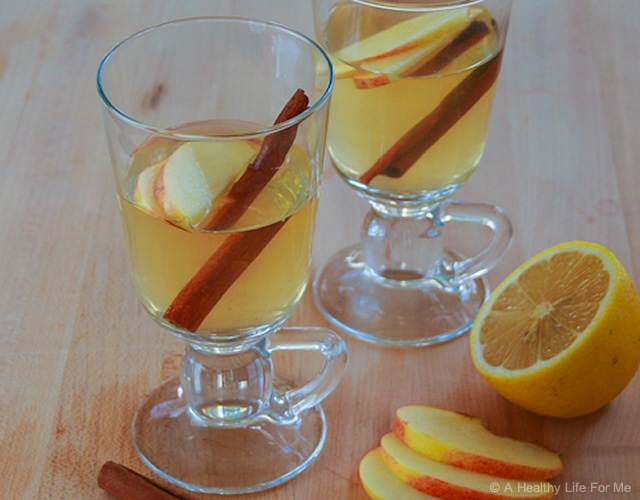 Hot toddy alle mele | Image courtesy of A Healthy Life For Me