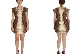 Elizabeth Meiklejohn wood dress - thumbnail_1