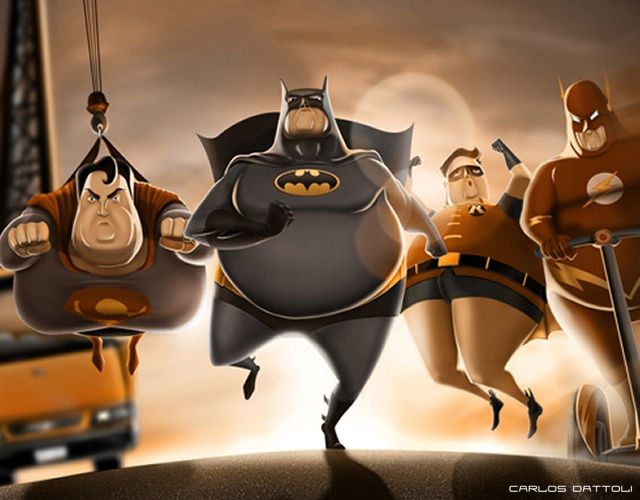 Fat SuperHeroes | Image courtesy of Carlos Dattoli