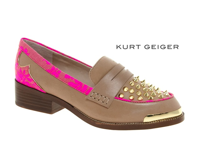 Kurt Geiger studded loafers