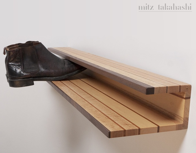 Shoe rack by Mitz Takahashi | Image courtesy of Mitz Takahashi