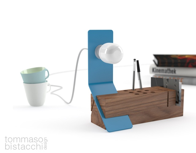Edi desk organizer by Tommaso Bistacchi