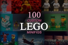 100 custom LEGO minifigs