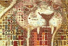 Ritratti mosaico di leoni - thumbnail_7