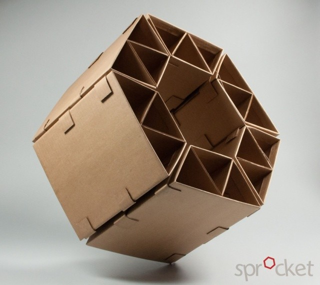 Sprocket Cardboard Chair | Image courtesy of Winston Cuevas - Michelle Lee - Elliot Ouchterlony - Hala Khoursheed