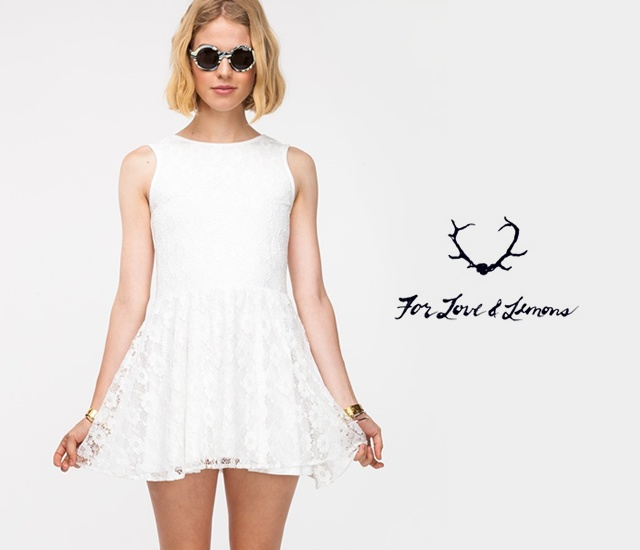 For Love and Lemons white dress | Image courtesy of For Love and Lemons