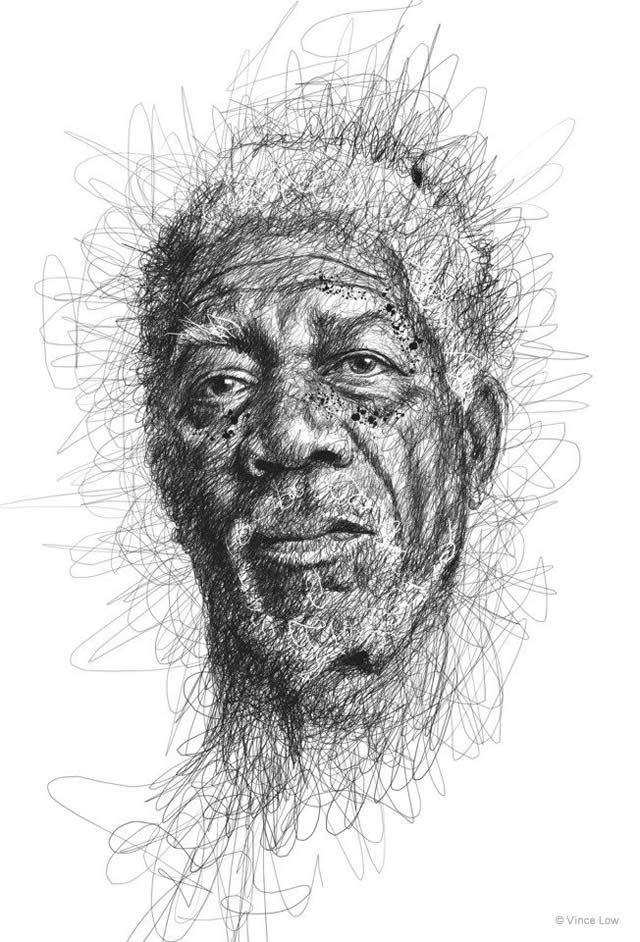 Famous Line Art Artists : Drawings by vince low en themag
