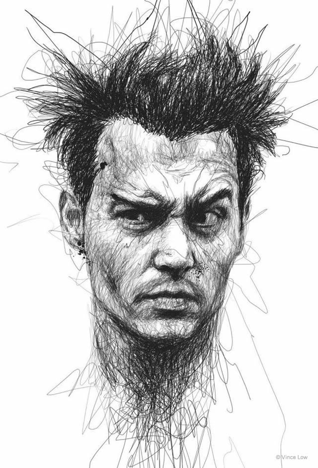 Famous Line Artists : Drawings by vince low en themag