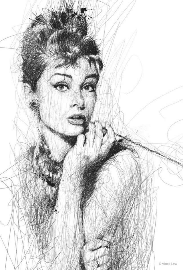 Famous Line Art Drawings : Drawings by vince low en themag