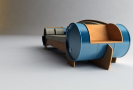 Barrel couch by Vladimir Kevreshan - thumbnail_1