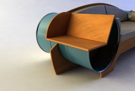 Barrel couch by Vladimir Kevreshan - thumbnail_2