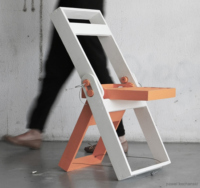 Folding chair by Pawel Kochanski