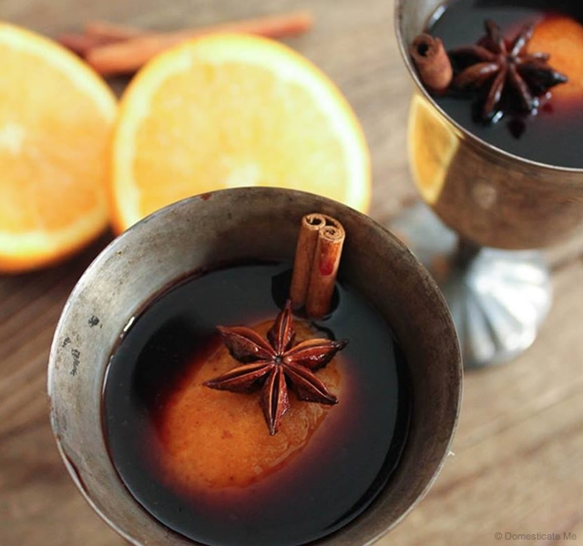 Mulled Wine | Image courtesy of Domesticate Me