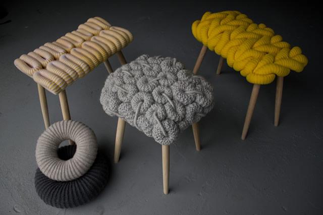 Sgabelli a maglia