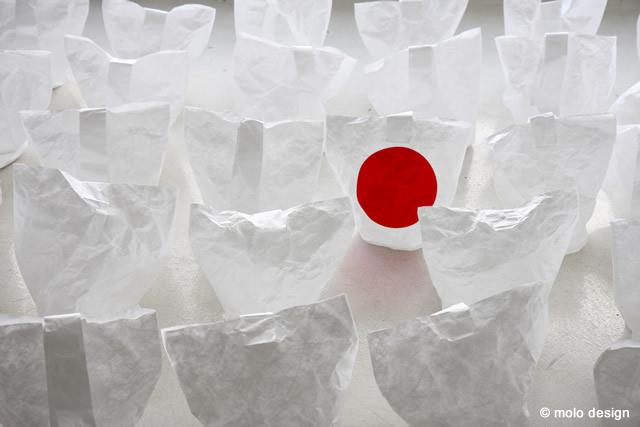 Heartfelt lantern for Japan