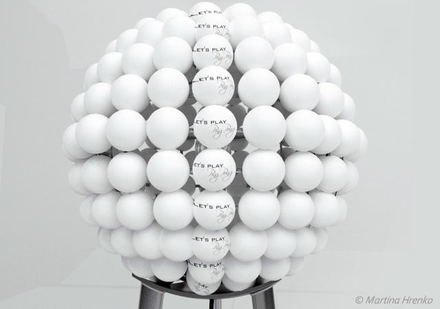 Ping pong lamp