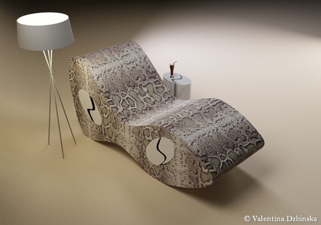 Snake Eyes lounge chair