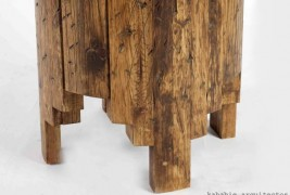 Salmi Negativo wood stool - thumbnail_1