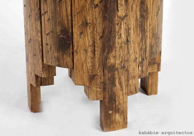 Salmi Negativo wood stool