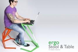 Ergo stool and table - thumbnail_1