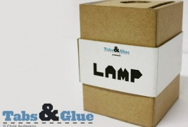 Recycled cardboard lamp - thumbnail_1