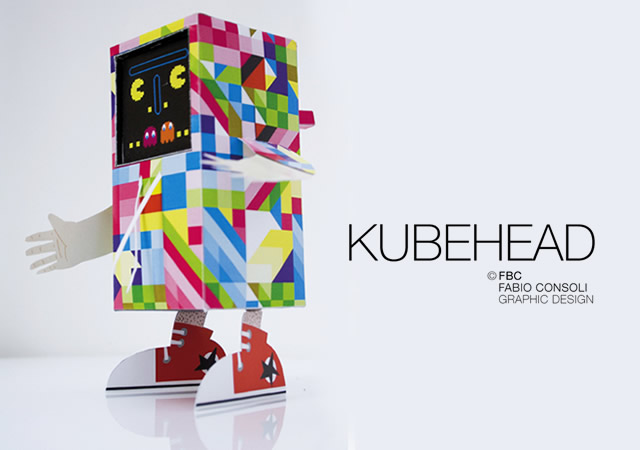 Kubehead paper toy