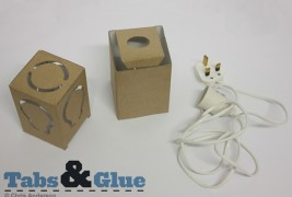 Recycled cardboard lamp - thumbnail_4