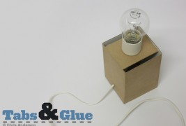 Recycled cardboard lamp - thumbnail_5