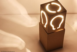 Recycled cardboard lamp - thumbnail_6