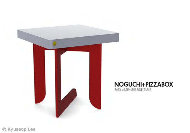 Noguchi+Pizzabox table