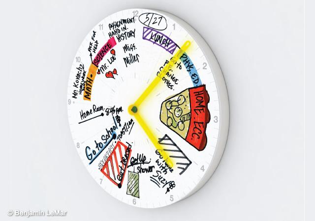 Clocknote timeline+note