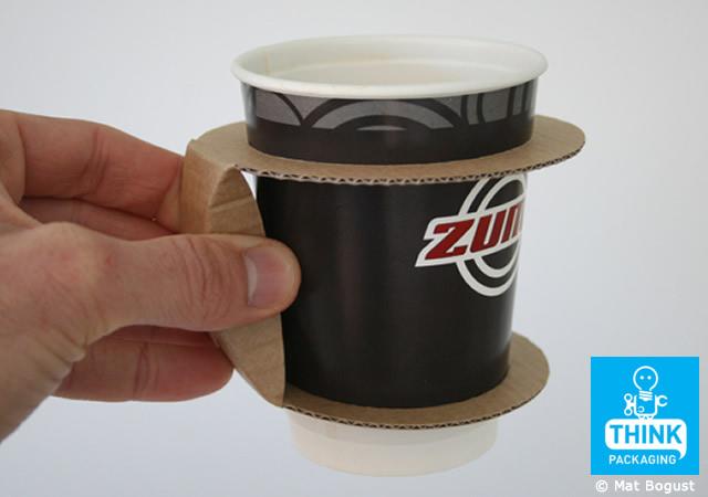 Cardboard takeaway cup