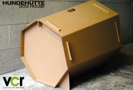 Cardboard dog house - thumbnail_2