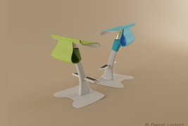 School desk and standing support - thumbnail_3