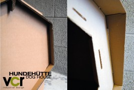 Cardboard dog house - thumbnail_3