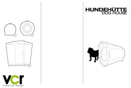 Cardboard dog house - thumbnail_6