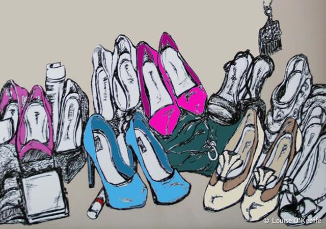 Louise O'Keeffe fashion illustration