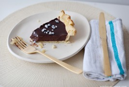 Chocolate lavender pie
