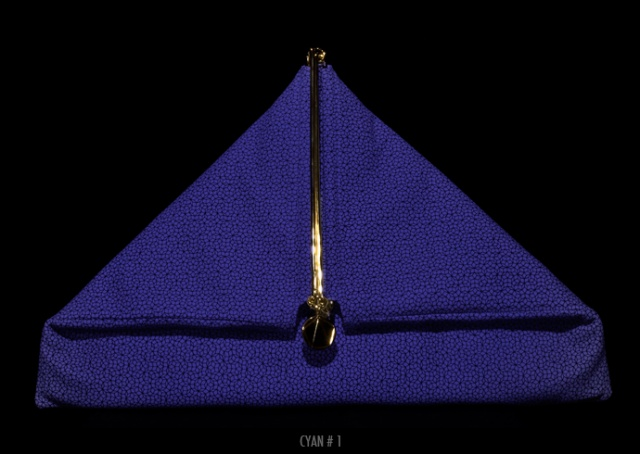 Simone Rainer triangle clutch | Image courtesy of Simone Rainer
