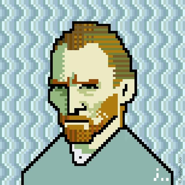 Van Gogh pixel-art
