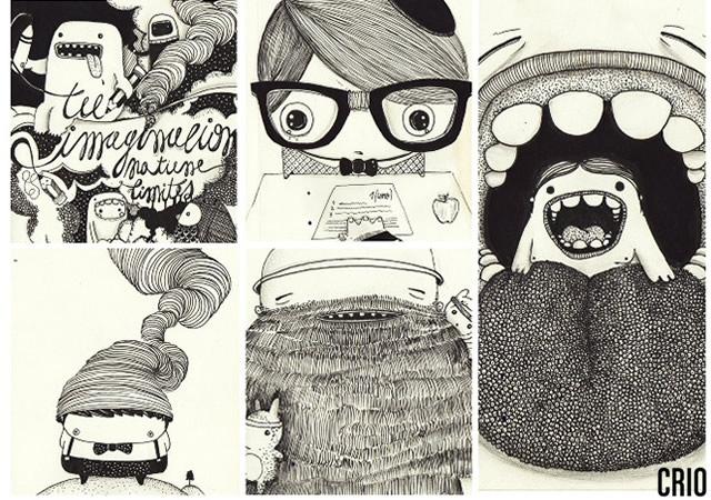 Sketches by Crio | Image courtesy of Eber Santonocito